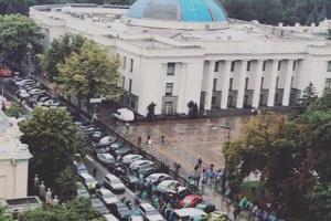 Власники євроблях заблокували центр Києва